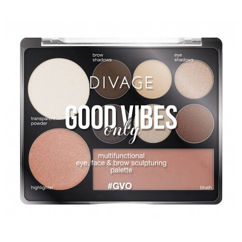Divage | DIVAGE Палетка для макияжа Good Vibes Only №01 | Clouty