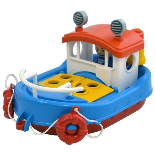 Форма   Лодка Форма Детский сад - Ботик Дельфин (С-120-Ф) 21.5 см синий/красный   Clouty