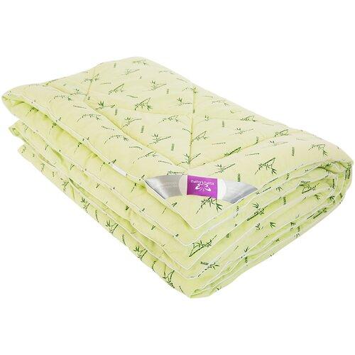 Kupu-Kupu | Одеяло Kupu-Kupu Бамбук Classic в поплине, легкое, 172 х 205 см (фисташковый с рисунком бамбука) | Clouty