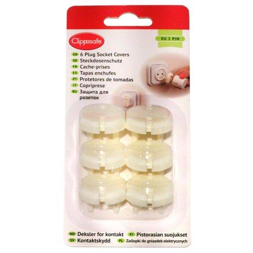 Clippasafe   Защита для розеток CL70/3 Clippasafe белый   Clouty