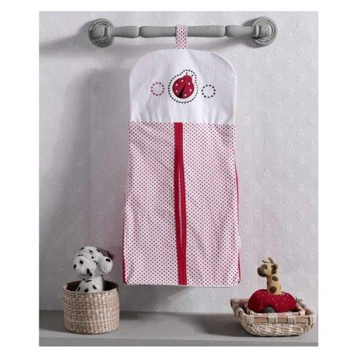 Kidboo | Kidboo Прикроватная сумка Little Ladybug бело-красный | Clouty