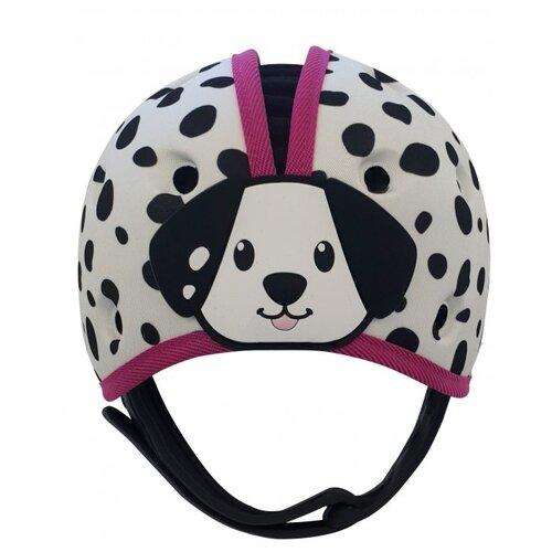 SafeheadBABY | Шапка-шлем для защиты головы Далматин SafeheadBABY розовый | Clouty
