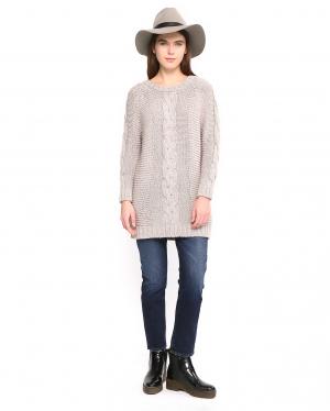 "Tinsels | Удлиненный свитер с узором ""косичка | Clouty"