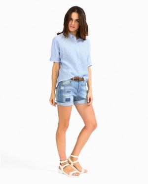 Kaos | Джинсовые шорты с заплатками | Clouty