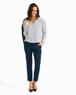 Tinsels | Свободные зауженные брюки из вискозы | Clouty