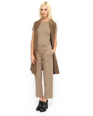 True NYC | Укороченные свободные брюки из хлопка | Clouty