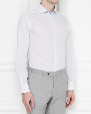 Pal Zileri | Рубашка из хлопка и льна | Clouty