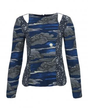 KENZO | Блуза с вырезами и узором | Clouty