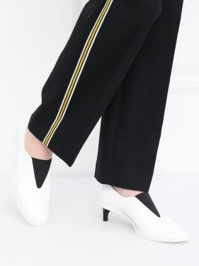 SPORTMAX | Туфли из кожи на маленьком каблуке | Clouty