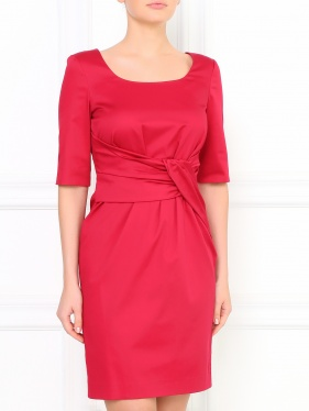 Moschino Cheap & Chic | Платье-футляр с декоративной драпировкой | Clouty