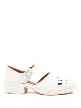 Emporio Armani | Туфли из кожи на низком каблуке | Clouty