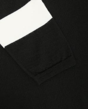 Persona By Marina Rinaldi | Удлиненный джемпер из шерсти с контрастной отделкой | Clouty