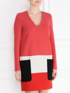 MAX MARA | Платье-мини с контрастной отделкой | Clouty