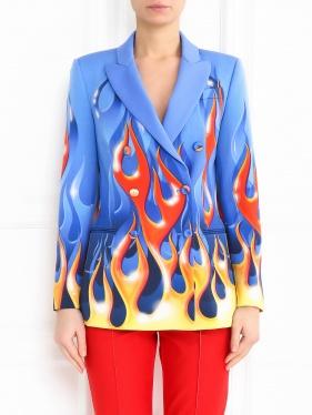 Moschino Couture | Жакет из шерсти с принтом | Clouty