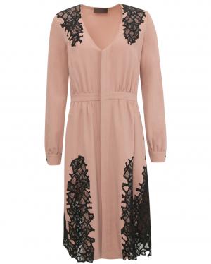 Jo No Fui | Платье-миди с кружевной отделкой | Clouty