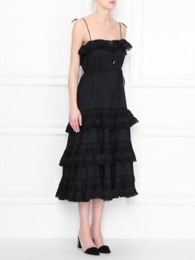 Zimmermann | Платье из хлопка с кружевной отделкой | Clouty