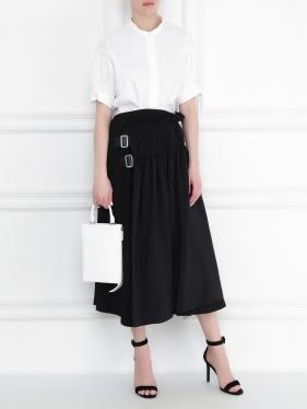 JIL SANDER | Плиссированная юбка с пряжками | Clouty