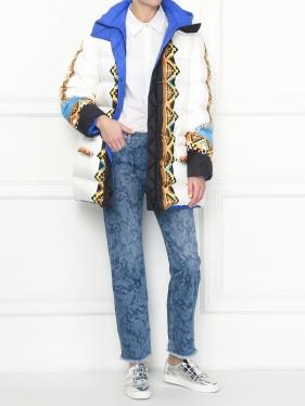 Etro   Пуховик с узором и капюшоном   Clouty