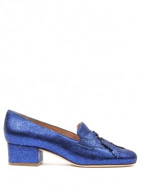 Alberta Ferretti | Туфли из фактурной кожи на низком каблуке | Clouty