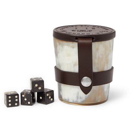 Dunhill | Dunhill - Game Dice And Cup Set - White | Clouty