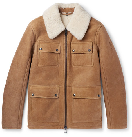 Belstaff | Belstaff - Upland Slim-fit Shearling Jacket - Tan | Clouty