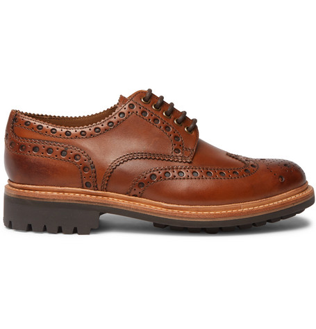 Grenson | Grenson - Archie Leather Wingtip Brogues - Tan | Clouty
