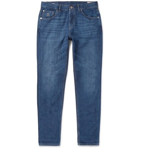 Brunello Cucinelli | Brunello Cucinelli - Slim-fit Denim Jeans - Blue | Clouty
