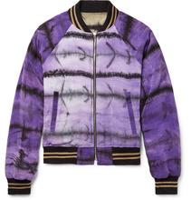 AMIRI - Reversible Tie-dyed Silk-satin Bomber Jacket - Purple