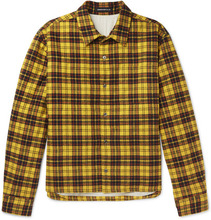 Фото Undercover - Checked Cotton-flannel Shirt - Yellow
