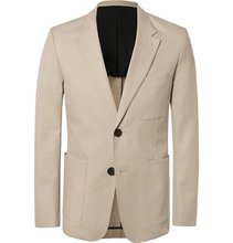 AMI - Beige Slim-fit Cotton-twill Suit Jacket