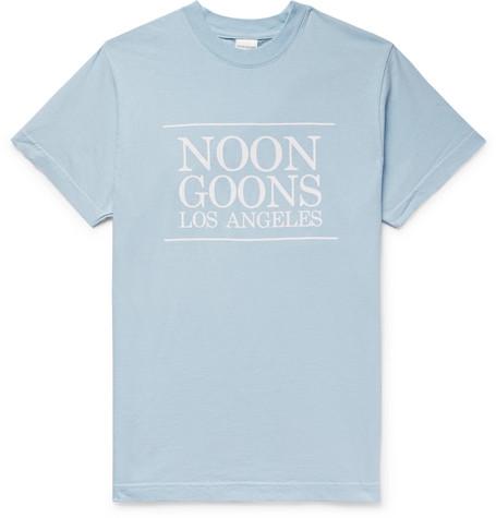 Noon Goons | Noon Goons - Logo-print Cotton-jersey T-shirt - Light blue | Clouty