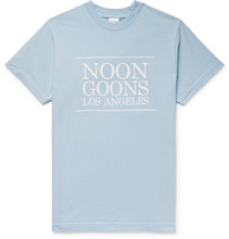 Noon Goons - Logo-print Cotton-jersey T-shirt - Light blue