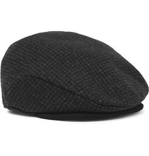 Фото Polo Ralph Lauren - Suede-trimmed Puppytooth Wool-blend Flat Cap - Black