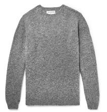Officine Generale - Melange Shetland Wool Sweater - Gray