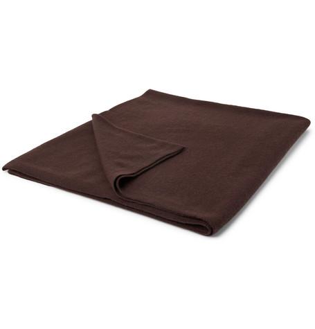 Soho Home | Soho Home - Cashmere Cinema Blanket - Brown | Clouty