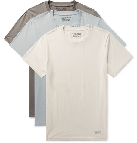 Wacko Maria | Wacko Maria - Three-pack Cotton-jersey T-shirts - Gray | Clouty