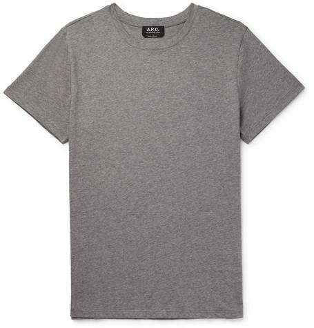 A.P.C. | A.P.C. - Jimmy Cotton-jersey T-shirt - Gray | Clouty