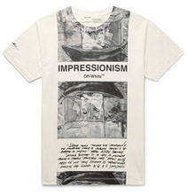 Фото Off-White - Printed Cotton-jersey T-shirt - Off-white