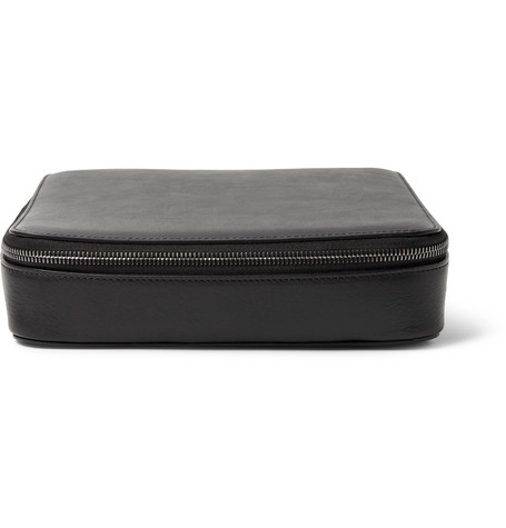 This Is Ground | This Is Ground - Grande Tech Dopp Kit Leather Travel Organiser - Black | Clouty