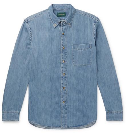J. Crew | J.Crew - Button-down Collar Denim Shirt - Indigo | Clouty