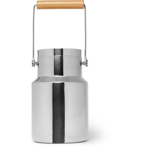 L'Atelier du Vin   L'Atelier du Vin - Stainless Steel And Beech Timbale Bucket - Silver   Clouty