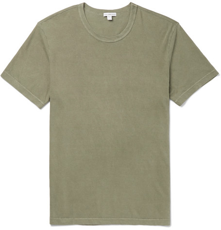 James Perse | James Perse - Slim-fit Combed Cotton-jersey T-shirt - Green | Clouty