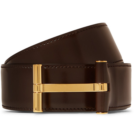 Tom Ford | TOM FORD - 4cm Dark-brown Leather Belt - Brown | Clouty