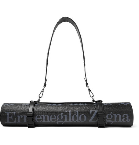 Ermenegildo Zegna | Ermenegildo Zegna - Logo-print Yoga Mat - Black | Clouty