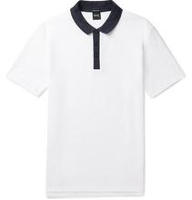 Hugo Boss - Honeycomb Cotton Polo Shirt - White
