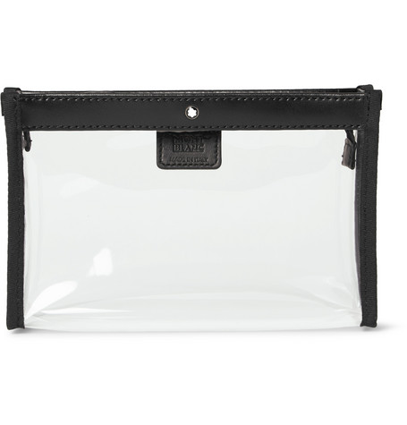 Montblanc | Montblanc - Leather-trimmed Transparent Flight Bag - Black | Clouty