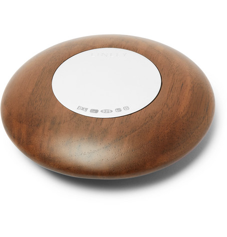 Linley | Linley - Pebble Walnut And Sterling Silver Paperweight - Brown | Clouty