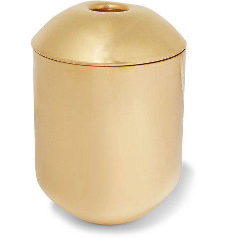 Tom Dixon | Tom Dixon - Form Brass Tea Caddy - Gold | Clouty