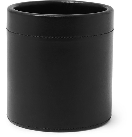 Connolly | Connolly - Leather Pen Pot - Black | Clouty