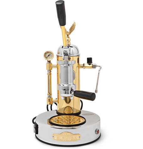 Elektra | Elektra - Micro Casa Leva S1co Brass And Chrome Espresso Machine - Silver | Clouty